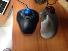 左が新規購入のTB。右はMS TB Explorer